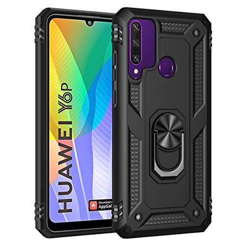 AFARER Hülle Kompatibel Mit Huawei Y6p (2020)/Honor 9A Militärische Handyhülle Schwarz