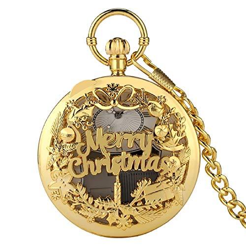 IOMLOP Reloj de bolsilloReloj de bolsillo de cuarzo con manivela de mano...