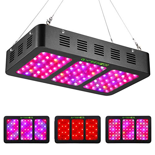 900W LED Grow Light Full Spectrum with Veg&Bloom Switch,GREENGO Triple-Chips LED Grow Lamp with Daisy Chain for Indoor Plants Veg and Flower