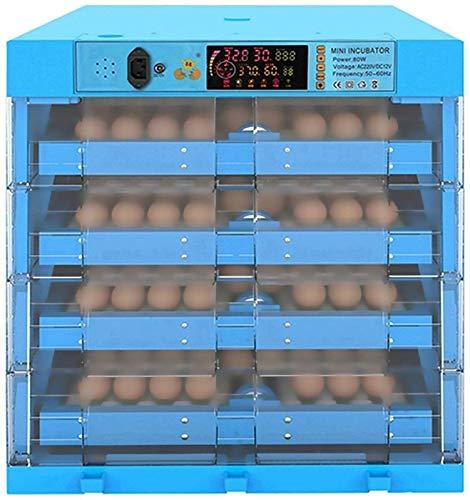 JHNEA Huevos Incubadoras Digital Automático Aves Nacedor Huevo torneado Fertilizado Pato de Pollo Codorniz Bridas Huevos Incubación Control Inteligente (ENCHUFE UK), 256 Huevos