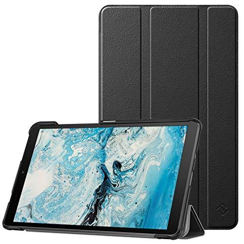 Fintie Hülle für Lenovo Tab M8 (TB-8705F/TB-8505F/TB-8505X/TB-8505FS), Superdünne Superleicht Schutzhülle mit Ständerfunktion für Lenovo Tab M8 HD FHD (2nd Gen) Smart Tab M8 8 Zoll, Schwarz