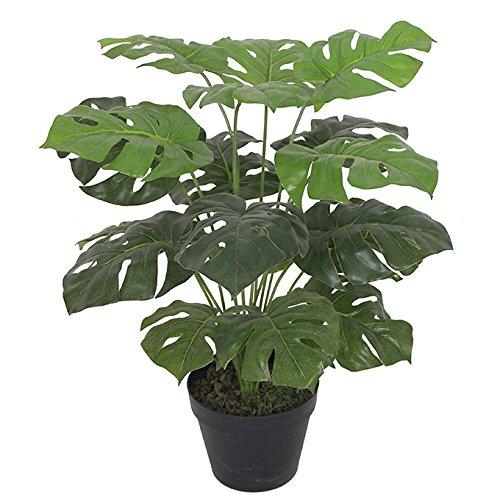 Leaf Künstliche Pflanze mit Blättern, Schwarz, 60 cm Monstera