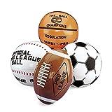 cama24com Aufblasbarer Football Basketball Baseball Fußball 4 Stück groß Wasserball Palandi