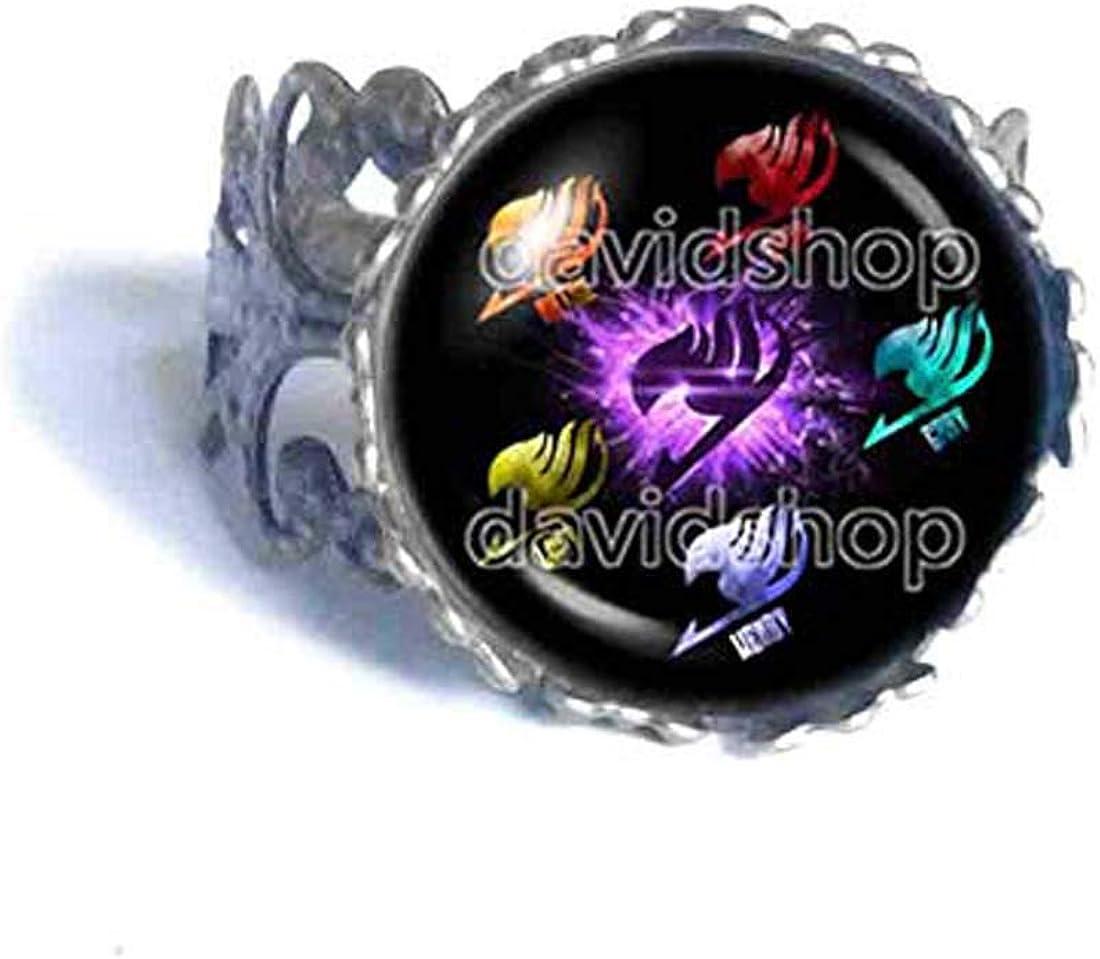Handmade Fashion Jewelry Purple Wing Bird Symbol Erza Lucy Grey Wendy Natsu Dragneel Fairy Tail Guild Marks Ring Cosplay
