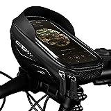 FINSHN High Capacity Fahrrad-Beutel-wasserdichte Fahrrad-Lenkertasche Touch Screen mit Sonnenblende Schlauch Bike-Zellen-Handy-Beutel for Below 6.5' Telefon
