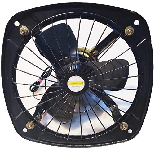 HomeShield PHANO || EXHAUST FAN HEAVY DUTY || 300 mm (12 inch Metal Blade) Outer Metal Frame - 16 inch Safety Grid || High Speed || Copper Winding || for Kitchen || Bathroom || Office - Beige
