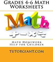 TutorGiant.com - Grades 4-6 Math Worksheets: Math Homework Help for Children - Grades 4-6 Math Workbook - Watch the Free Videos Online, Complete the Worksheets, Take Up the Worksheets in the Video