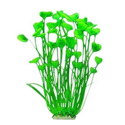 mi ji Kunstpflanze für Aquariumpflanzen, künstlich, 40 cm, Grün