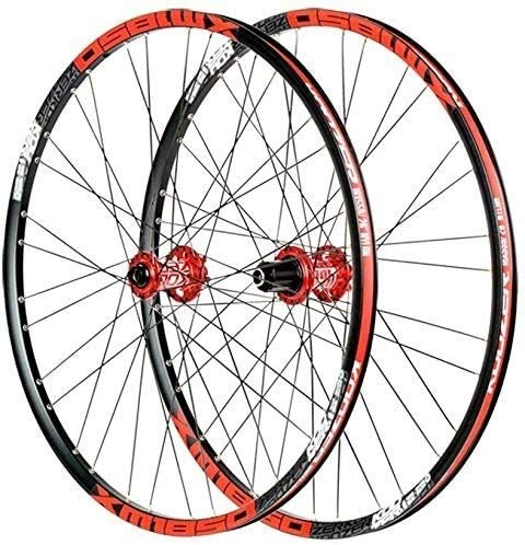 SOAR Cerchi Bici Bicicletta wheelset, Ruote Mountain Bike 26/27,5 Pollici Disco Freno Ultraleggero Cerchio in Lega Leggera Veloce Rilascio 32 Fori for Shimano o Sram 8 9 10 11 Geschwindi