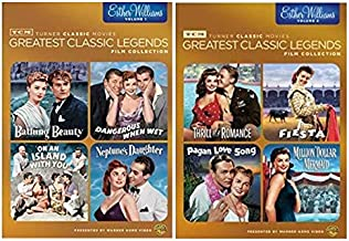 TCM Greatest Classic Films: Legends - Esther Williams Volume 1 & 2 (BATHING BEAUTY/ FIESTA/ ON AN ISLAND WITH YOU/ PAGAN LOVE SONG/ NEPTUNE'S DAUGHTER/ THRILL OF A ROMANCE/ DANGEROUS WHEN WET & MORE)