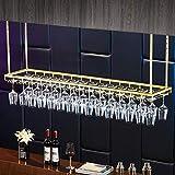 AERVEAL Wine Cup Rack Adjustable Height Upside Down Hanging Wine Bottle Holder with Hooks Hang Cocktail or Champagne Flutes for Kitchen Bar Pubs or Restaurants Rack,120Cm(47.2In),120Cm(47.2In)