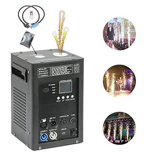 AILZNN DMX Feuerwerk Pyrotechnik Maschinen, 500W Cold Spark Feuerwerksmaschine Hochzeits Spezialeffekt Maschine per DMX-512 oder Fernbedienung Verwenden Sie in Big Show, Party