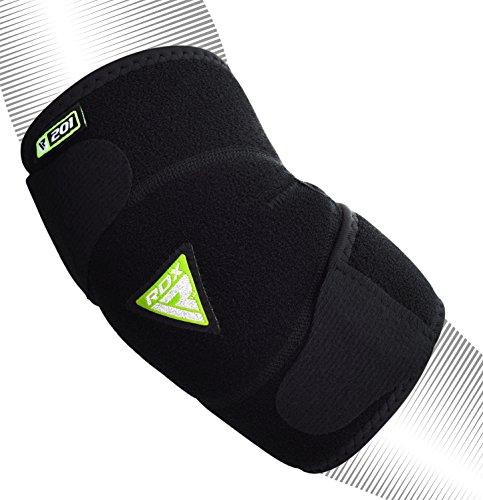 RDX Boxe Supporto Gomito Tutore MMA Lesioni da sforzi ripetitivi Gomitiere Pallavolo Infortunio al Polso Elastica Avambraccio Protezione Fascia Epicondilite (La Confezione Contiene Un Solo Pezzo)