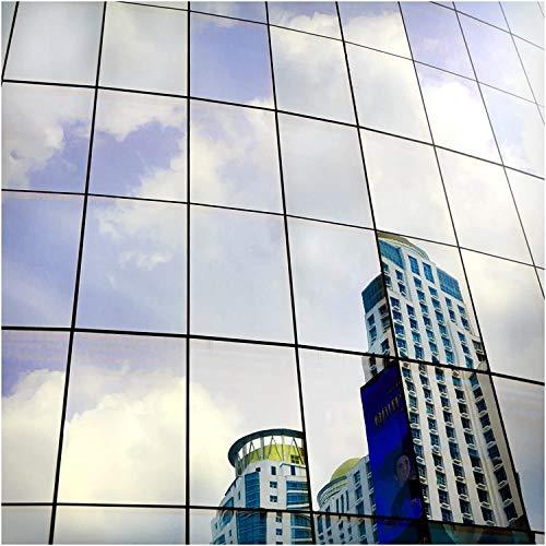 BDF S05 Heat Control Daytime Privacy One Way Mirror Window Film Silver 5 (36in X 12ft)