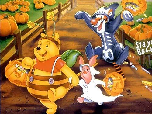 WOMGD® Cartoon Film Holz Puzzle Puzzle, niedlich Halloween 1000 Stück Puzzles, kreative DIY Hobbys Spiele Herausforderung Kunstspielzeug für Erwachsene Kinder