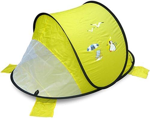 QHGao Tente De Jeu Multi-Fonctionnelle pour Enfants,Tente Pop-up Aérée Ultra-légère pour Enfants De Dessin Animé Mignon,Tente De Cabine De Jeu Intérieure Extérieure,Tente De Camping Familial,jaune