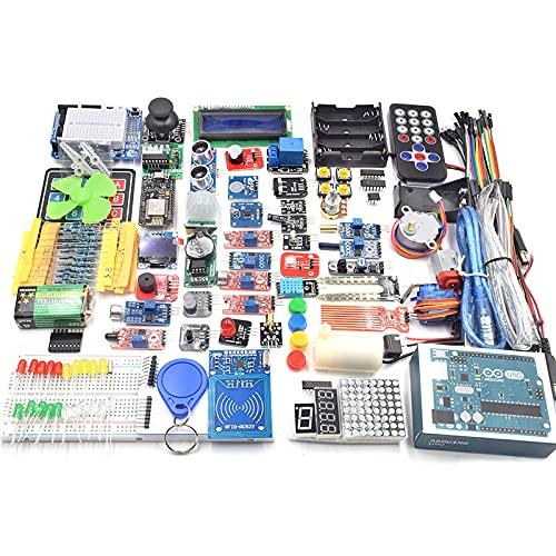 No application Für Arduino UNO Starter Kit DIY R3 Projekt Komplettes Starter Kit Elektronische Komponenten Set Basic Starter Kit Modul Sensor Kit mit Motherboard CD Daten zum Programmieren Starter