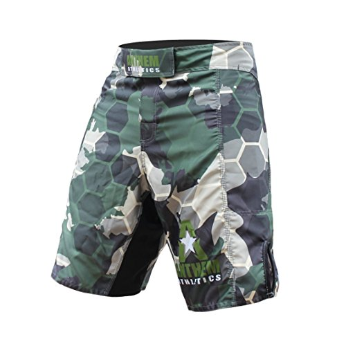 Anthem Athletics RESILIENCE MMA Shorts - Green Camo Hex - 32