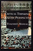 Critical Thinking Quranic Perspective Teachers Manua