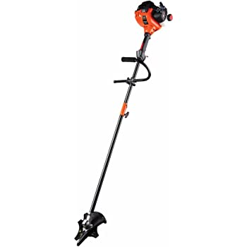 Remington RM2700 Ranchero 27cc 18-Inch Straight Shaft Gas Powered Brushcutter and String Trimmer-2-Cycle Lightweight Weed Wacker with Attachment Capabilities for Lawn Care, Orange