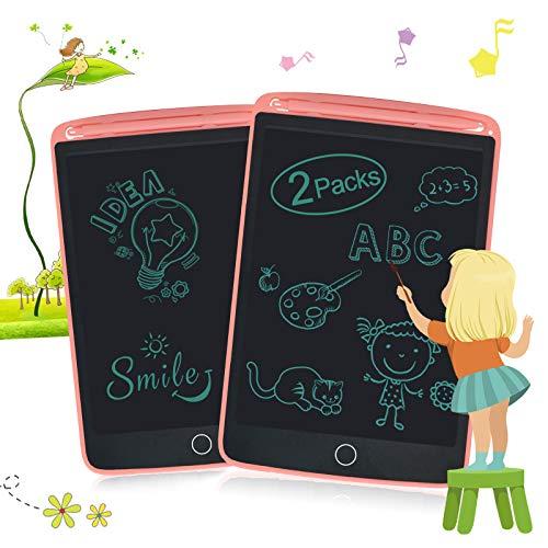 EnotepadLCDWritingTabletsforKids,DrawingDoodleBoard8.5InchElectronicGraphicsforChildren,PortableDigitaleWriterPink+Pink