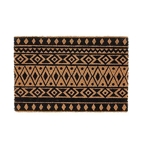 Tapis entree interieur et exterieur, paillasson antiderapant et absorbant, paillassons pour entrée en fibre de coco, tapis original de porte, 40x60 cm (figura)