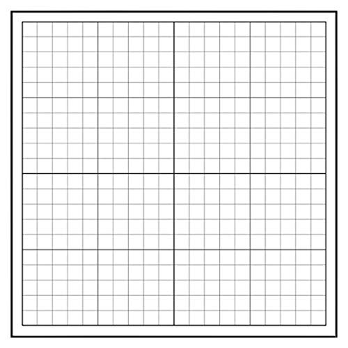 Geyer Instructional Products 503004 Repositionable, Static-Cling Graph - 1' Squares, 24' Height, 24' Length, White/Black