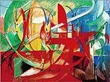 Poster 70 x 50 cm: Gazellen von Franz Marc - hochwertiger