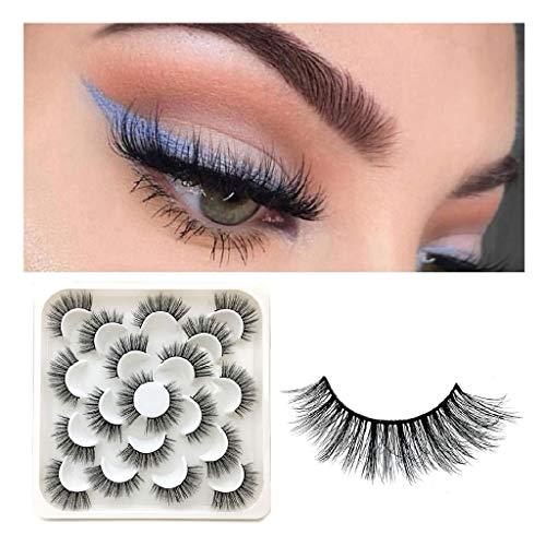 Momola 10 Paires de Faux Cils,Natural 6D Cils Faux - Eyelashes Mode Extension Pour Maquillage