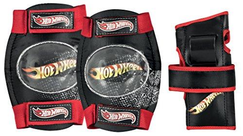 Hot Wheels Mädchen Schutzset HW Big Logo Tri-Pack, Schwarz/Rot/Gelb, s