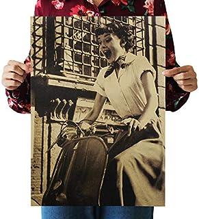 Wall Art Decor Poster Artworks, Hepburn Nostálgico Vintage