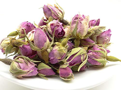 pikantum Rosenknospen | 100g | Rosenblüten | intensiver Rosenduft | wunderschöne rosa bis voilette Farbe | ohne Zusatzstoffe