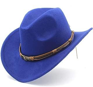 2019 Good Hat For Unisex Men Women Wool Western Cowboy Hat With Punk Belt Pop Wide Brim Church Hat Sombrero Hat Outdoor Hat, Size 56-58CM