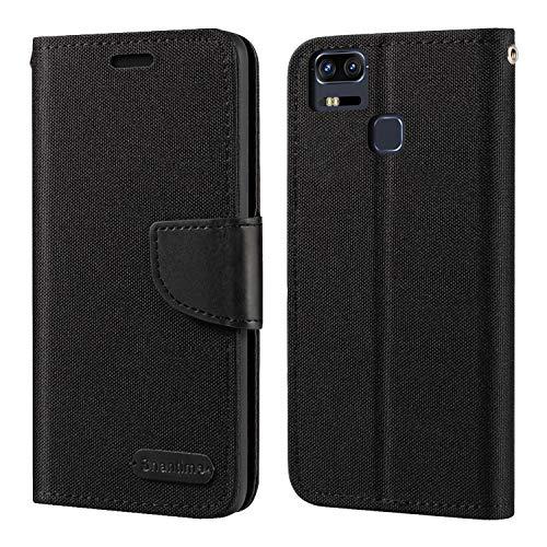 Asus Zenfone 3 Zoom ZE553KL Hülle, Oxford Leder Wallet Hülle mit Soft TPU Back Cover Magnet Flip Hülle für Asus Zenfone 3 Zoom ZE553KL