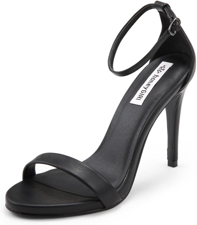 Sandalen Wort mit dem Sommer Römischen Fisch Mund Schuhe Strap Strap Strap mit Feinen Fersen  9efd47