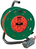 Draper DCR2510RCDC Four Socket Garden Cable Reel with RCD Adaptor, 230 V, 25 m