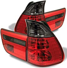 For 00-06 BMW E53 X5 SUV Red Smoked Rear Tail Light Brake Lamps 4pcs Replacement Pair Left + Right