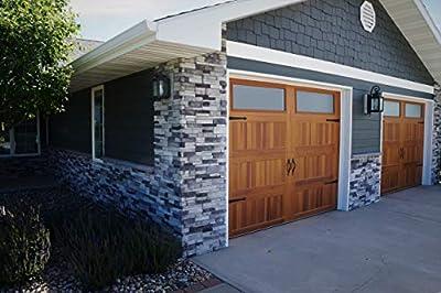 Natural Concrete Products Co CGFLATP Adorn Mortarless Stone Veneer Siding | Ledgestone Series | Colorado Gray | 24Boxes/96pcs (Flats), 6 x 23.5, 96 Piece