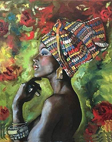 HWYLOVE Puzzles Madera Rompecabezas 1000 Piezas,Alivie el estrés Tangram de Hijos Adultos Mujeres africanas Arte DIY Decoraciones para el hogar Juegos Casuales Diversión Juguete Familiares y Amigos