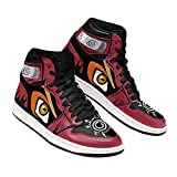 Naruto Sage Mode Eyes Sneakers Naruto Anime Shoes -Zapatillas de Baloncesto para Hombre, Antideslizantes, Transpirables, con Cordones, Zapatillas Deportivas al Aire Libre a Juego