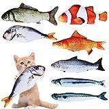 Le forfait comprend: ce forfait comprend 7 pièces jouet chat poisson. 7 différents types de jouets à cataire: saury, maquereau, saumon, poisson clown, carpe rouge, carpe herbacée et poisson salé. Le poisson de simulation 3D a un aspect vif pour répon...