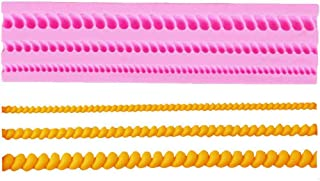 Rope Bead Border 3D Silicone Fondant Mould Cake Border Decorating Molds Sugar Icing Gumpaste Kitchen DIY Baking Tools