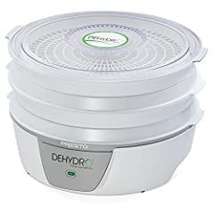 NOTE :Item does not have an on off switch. This unit turns on when plugged in. Four-tray system for dehydrating foods at a fraction of the cost of commercially dehydrated foods with no additives or preservatives See-through cover to monitor drying pr...