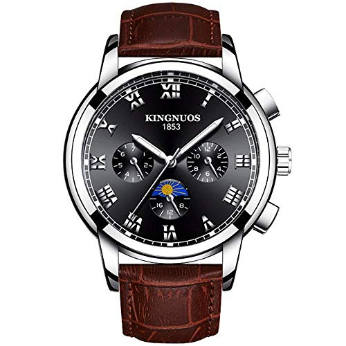 ZSDGY Reloj Impermeable para Negocios, Reloj Luminoso para Hombres, Reloj de Cuarzo Art Dial Q