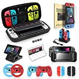 Accessories Bundle for Nintendo Switch, Kit with Carrying Case,Protective Case with Screen Protector,Compact...