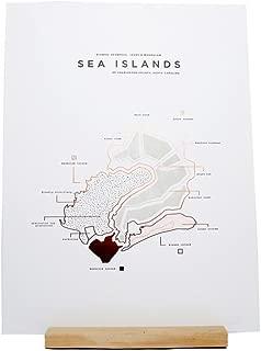 ROAM by 42 Pressed Sea Island Map Print