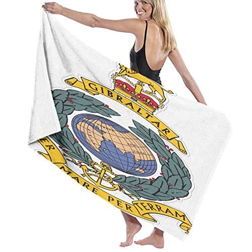 Best-design Royal Marines - Toalla de baño para niños, 100% algodón, súper suave, toalla de natación para niños