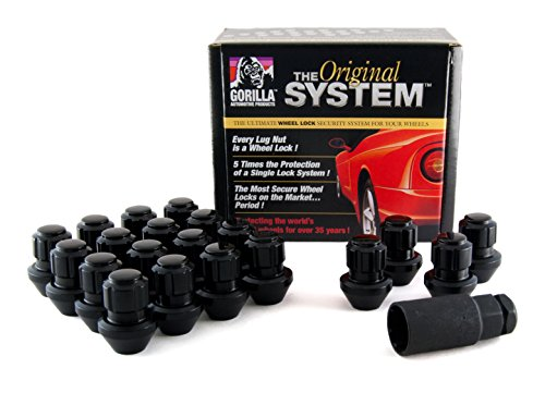 Gorilla Automotive 96643BDX Black Factory Style Wheel Lock System (14mm x 1.50 Thread Size, 20-Pack)