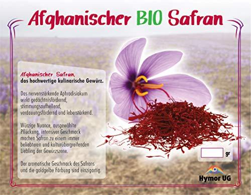 Hymor Safran Fäden Safranfäden 5gramm Super Negin, BIO Safran, Saffron,...