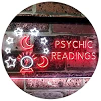 Psychic Readings Crystal Ball Dual Color LED看板 ネオンプレート サイン 標識 白色 + 赤色 600 x 400mm st6s64-i3120-wr